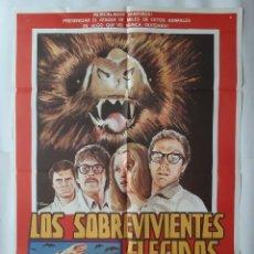 Cine: ANTIGUO CARTEL CINE LOS SOBREVIVIENTES ELEGIDOS + 12 FOTOCROMOS 1979 CALDERON CC-273. Lote 214109993