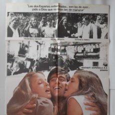 Cine: ANTIGUO CARTEL CINE TENGAMOS LA GUERRA EN PAZ + 12 FOTOCROMOS1979 CC-276. Lote 214190778