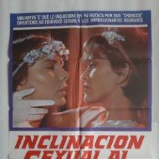 Cine: ANTIGUO CARTEL CINE INCITACION SEXUAL AL DESNUDO CLASIFICADA S + 9 FOTOCROMOS CC-280. Lote 214193401
