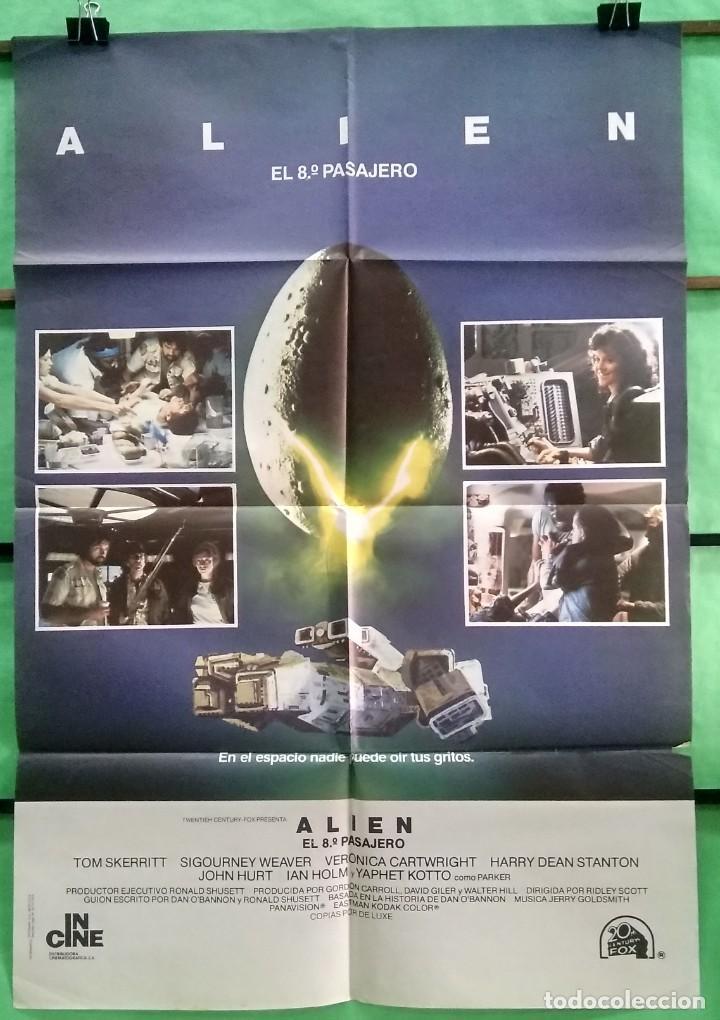 CARTEL ORIGINAL DE CINE - ALIEN EL 8º PASAJERO - EXCELENTE - P2 (Cine - Posters y Carteles - Ciencia Ficción)