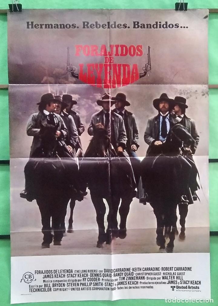 CARTEL ORIGINAL DE CINE - FORAJIDOS DE LEYENDA 1979 DAVID CARRADINE, KEITH CARRADINE- EXCELENTE - P2 (Cine - Posters y Carteles - Westerns)