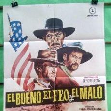 Cine: CARTEL ORIGINAL DE CINE - EL BUENO,EL FEO Y EL MALO 1968 - EXCELENTE - P2. Lote 214206030