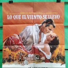 Cine: CARTEL ORIGINAL DE CINE -LO QUE EL VIENTO SE LLEVO - EXCELENTE - P2. Lote 214206656