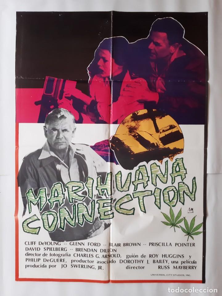 ANTIGUO CARTEL CINE GLENN FORD MARIHUANA CONNECTION + 10 FOTOCROMOS ILUSTRA M CC-296 (Cine - Posters y Carteles - Acción)