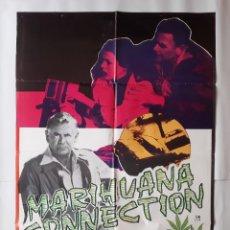Cine: ANTIGUO CARTEL CINE GLENN FORD MARIHUANA CONNECTION + 10 FOTOCROMOS ILUSTRA M CC-296. Lote 214270618