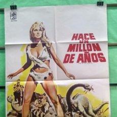 Cine: CARTEL CINE - HACE UN MILLON DE AÑOS 1966 - RAQUEL WELCH - ORIGINAL - EXCELENTE - P2. Lote 214285585