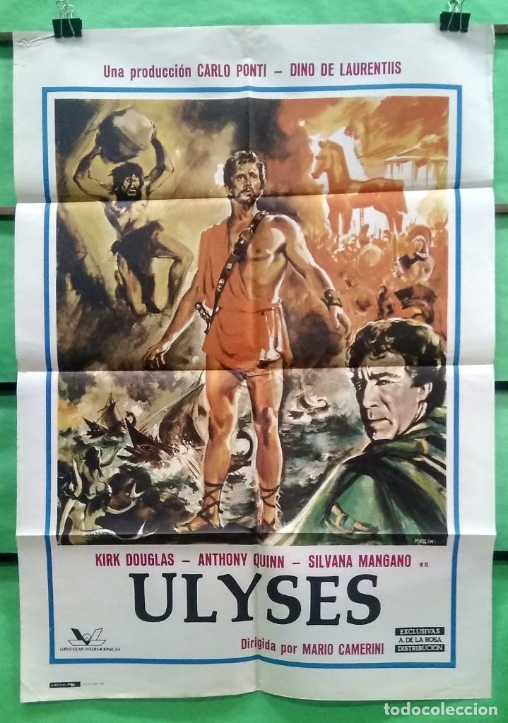 CARTEL CINE - ULISES -1974 - KIRK DOUGLAS - ORIGINAL - MUY BUENO - P2 (Cine - Posters y Carteles - Aventura)