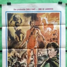 Cine: CARTEL CINE - ULISES -1974 - KIRK DOUGLAS - ORIGINAL - MUY BUENO - P2. Lote 214287415