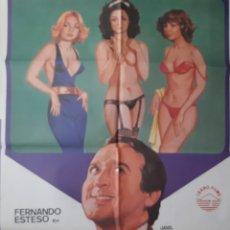 Cinema: CARTEL CINE CARAY CON EL DIVORCIO 1982 FERNANDO ESTESO ILUSTRA JANO A 131. Lote 214308867