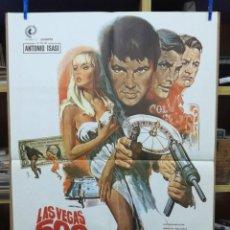Cine: CARTEL DE LA PELÍCULA LAS VEGAS 500 MILLONES, CON GARY LOCKWOOD, ELFE SOMMER Y LEE J. COBB. Lote 214480686