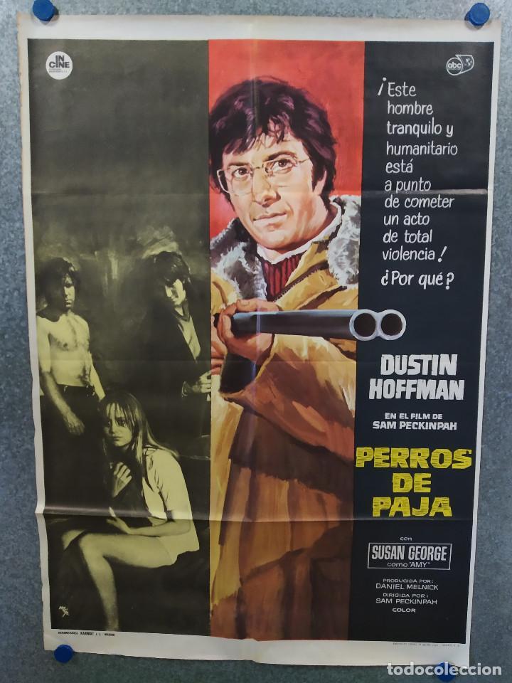 PERROS DE PAJA. DUSTIN HOFFMAN, SUSAN GEORGE. AÑO 1971. POSTER ORIGINAL (Cine- Posters y Carteles - Drama)