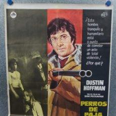 Cine: PERROS DE PAJA. DUSTIN HOFFMAN, SUSAN GEORGE. AÑO 1971. POSTER ORIGINAL. Lote 214646937