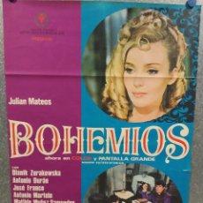 Cine: BOHEMIOS. JULIÁN MATEOS, DYANIK ZURAKOWSKA, ANTONIO DURÁN, JOSÉ FRANCO. AÑO 1969. POSTER ORIGINAL. Lote 214719987