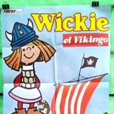 Cine: CARTEL CINE - WICKIE EL VIKINGO - 1976 ALOIS SCHARDT - BUENO - P1. Lote 215143163