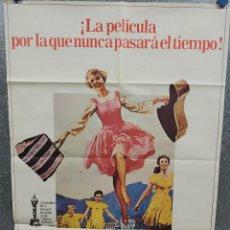 Cinéma: SONRISAS Y LÁGRIMAS. JULIE ANDREWS, CHRISTOPHER PLUMMER. POSTER ORIGINAL. Lote 215269337