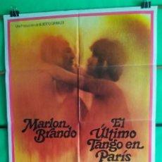 Cine: CARTEL CINE - EL ULTIMO TANGO EN PARIS -BERNARDO BERTOLUCCI -MARLON BRANDO -MARIA SCHNE - BUENO - P1. Lote 215316761