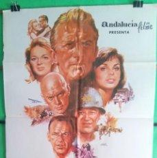 Cine: CARTEL CINE - LA SOMBRA DE UN GIGANTE - MELVILLE SHAVELSON - KIRK DOUGLAS - YUL BRINNER- BUENO - P1. Lote 215317240