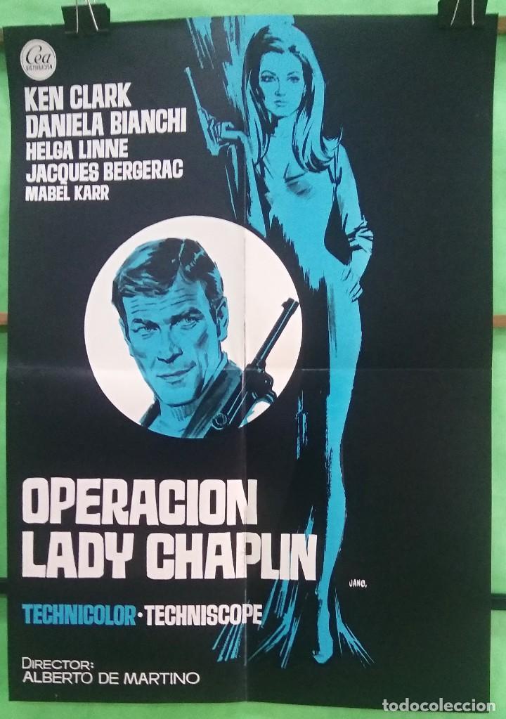 Cine: GUIA CINE - OPERACION LADY CHAPLIN 1966 - KEN KLARK - GUIA Y CARTEL - 8 PAGINAS - EXCELENTE - L6 - Foto 2 - 215368667
