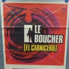 Cine: EL CARNICERO. STEPHANE AUDRAN, JEAN VANNE, CLAUDE CHABROL. AÑO 1971. POSTER ORIGINAL. Lote 215474112