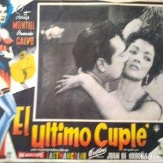 Cine: SARA MONTIEL CARTEL-ANUNCIO DE LA PELÍCULA 'EL ÚLTIMO CUPLÉ' DE JUAN DE ORDUÑA (1957) 41,5X31,5 CMS.. Lote 215661538