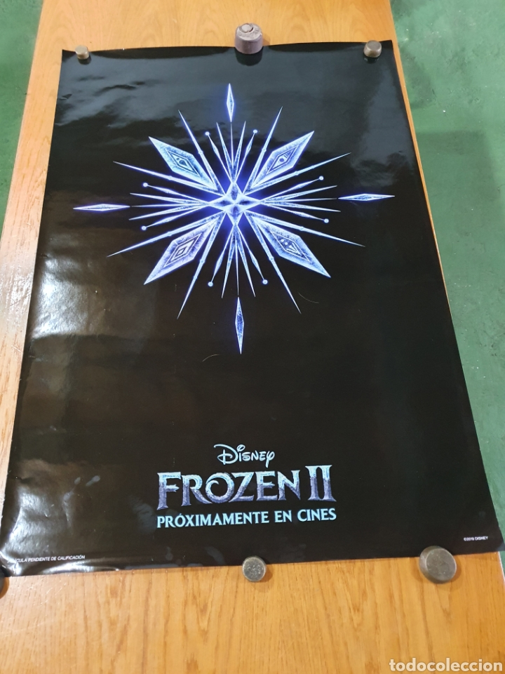 Cine: FROZEN II, cartel original promocional de cine, 98 cm x 68 cm. - Foto 6 - 216362216