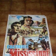 Cine: POSTER CUATREROS DEL MISSISSIPPI SPAGUETTI WESTERN ALEMANIA 1963. Lote 216511296