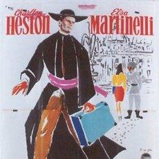 Cine: CK17D AVENTURA EN ROMA CHARLTON HESTON ELSA MARTINELLI POSTER ORIGINAL 140X200 ITALIANO. Lote 216524852