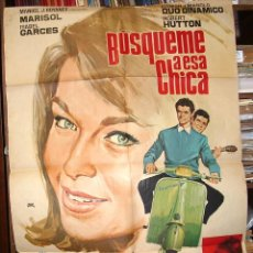 Cinéma: BUSQUEME A ESA CHICA, MARISOL Y DUO DINAMICO, ORIGINAL DEL ESTRENO LEER Y VER FOTOS. Lote 216532893