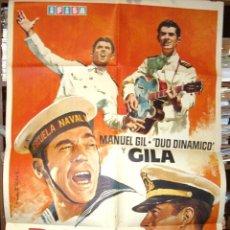 Cine: BOTON DE ANCLA EN COLOR DUO DINAMICO CON GILA, 1972 ORIGINAL DEL ESTRENO LEER Y VER FOTOS. Lote 216534792