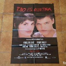 Cinéma: POSTER CARTEL TODO ES MENTIRA (100 X 70 CMS. APROX.). Lote 216579302