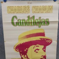 Cine: CANDILEJAS. CHARLES CHAPLIN. AÑO 1975. POSTER ORIGINAL. Lote 216585641
