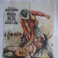 Cinéma: ANTIGUO CARTEL CINE PUÑOS DE ROCA 1964 MONTALBAN C672. Lote 216687486