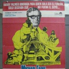 Cine: AAM11 FUNERAL EN BERLIN HARRY PALMER MICHAEL CAINE POSTER ORIGINAL 70X100 ESTRENO. Lote 216689593