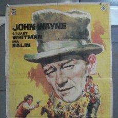 Cine: AAM16 LOS COMANCHEROS JOHN WAYNE JANO POSTER ORIGINAL 70X100 ESTRENO. Lote 216698468
