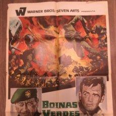 Cine: CARTEL DE CINE DEL ESTRENO DE LA PELÍCULA BOINAS VERDES, DE JOHN WAYNE (1968). Lote 216733808