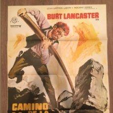 Cine: CARTEL DE CINE DEL ESTRENO DE LA PELÍCULA CAMINO DE LA VENGANZA DE BURT LANCASTER (1968). Lote 216733998
