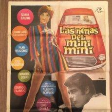 Cine: CARTEL DE CINE DEL ESTRENO DE LA PELÍCULA LAS NENAS DEL MINI MINI (1969). Lote 216734265