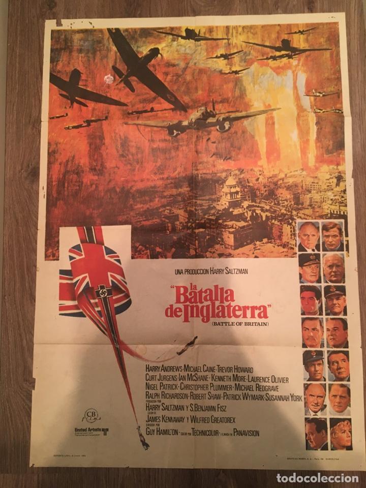 CARTEL DE CINE DEL ESTRENO DE LA PELÍCULA LA BATALLA DE INGLATERRA (1969) (Cine - Posters y Carteles - Bélicas)