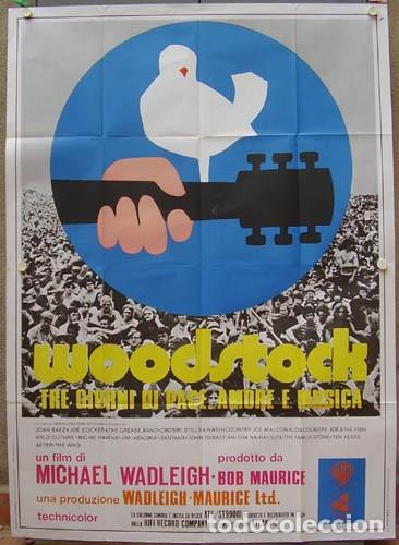 CP48D WOODSTOCK JIMI HENDRIX THE WHO POSTER ORIGINAL ITALIANO 140X200 (Cine - Posters y Carteles - Musicales)