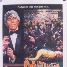 Cine: 3SU87D BALTIMORE BULLET JAMES COBURN BILLAR POSTER ORIGINAL 100X140 ITALIANO. Lote 216831906