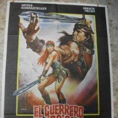 Cinéma: EL GUERRERO ROJO 1986 ARNOLD SCHWARZENEGGER BRIGITTE NIELSEN CARTEL DE CINE 100 X 70 CM. POSTER. Lote 216978370