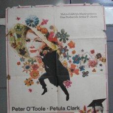Cine: AAN50 ADIOS MR. CHIPS PETER O'TOOLE PETULA CLARK POSTER ORIGINAL 70X100 ESTRENO. Lote 217010793