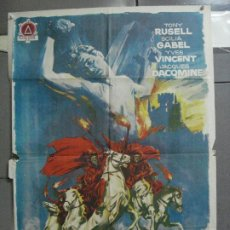 Cine: AAN59 JINETES DEL TERROR TONY RUSSEL SCILLA GABEL MARIO COSTA POSTER ORIGINAL 70X100 ESTRENO. Lote 217017031