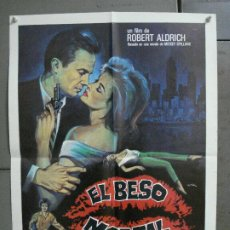 Cine: AAN65 EL BESO MORTAL KISS ME DEADLY ROBERT ALDRICH MATAIX POSTER ORIGINAL 50X70 ESTRENO. Lote 217018511