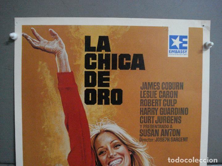 Cine: AAN72 LA CHICA DE ORO SUSAN ANTON JAMES COBURN LESLIE CARON MAC POSTER ORIGINAL 35X50 VIDEO - Foto 2 - 217021136