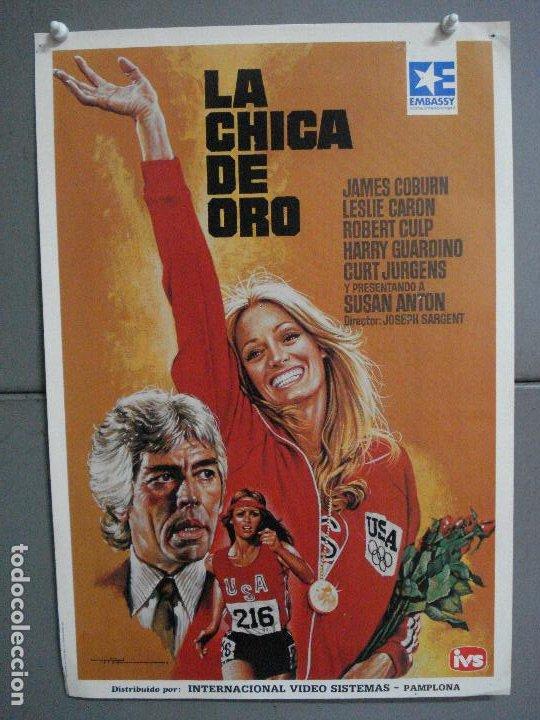 AAN72 LA CHICA DE ORO SUSAN ANTON JAMES COBURN LESLIE CARON MAC POSTER ORIGINAL 35X50 VIDEO (Cine - Posters y Carteles - Deportes)