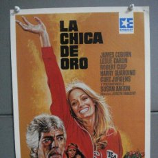 Cine: AAN72 LA CHICA DE ORO SUSAN ANTON JAMES COBURN LESLIE CARON MAC POSTER ORIGINAL 35X50 VIDEO. Lote 217021136