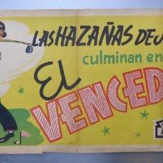 Cine: CARTEL LAS HAZAÑAS DE JAIMITO CULMINAN EN EL VENCEDOR, EXCLUSIVAS ARAJOL - LITOGRAFIA. Lote 217021273