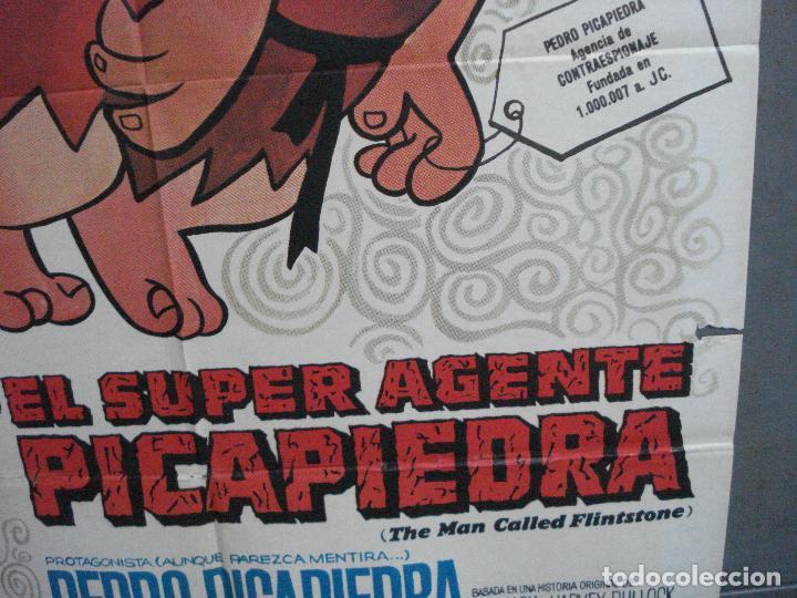 Cine: CDO 4854 EL SUPERAGENTE PICAPIEDRA FLINSTONES SERIE TV DIBUJOS ANIMADOS POSTER ORIG 70X100 ESTRENO - Foto 8 - 217086710