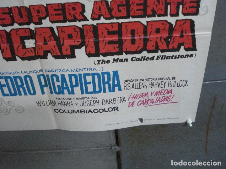 Cine: CDO 4854 EL SUPERAGENTE PICAPIEDRA FLINSTONES SERIE TV DIBUJOS ANIMADOS POSTER ORIG 70X100 ESTRENO - Foto 9 - 217086710